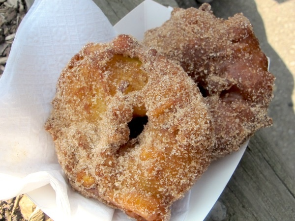 Deep Fried Apple Fritters yum at St.Jacob's Market!