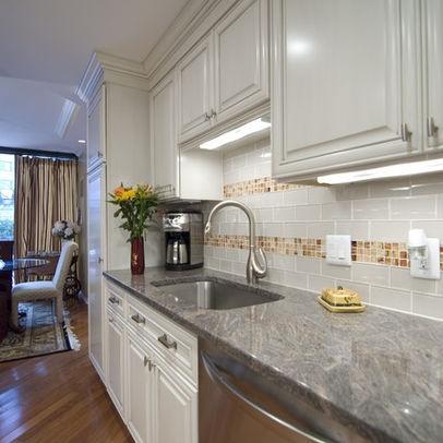 sea glass tile backsplash design kitchens pinterest