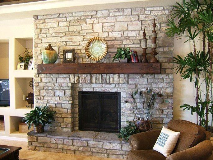 Rustic Tuscan Style Fireplace Shelf Mantel Via Etsy