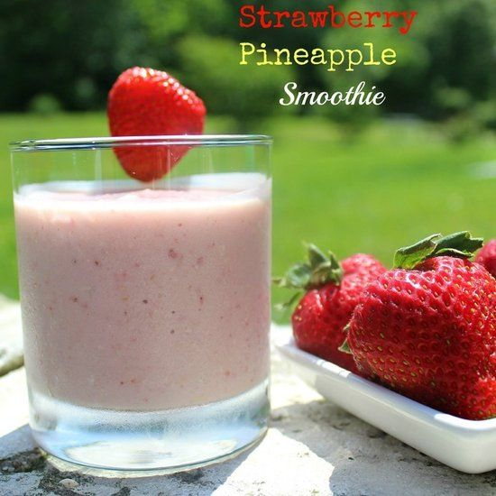 Strawberry Pineapple Smoothie | Healthy stuff!! | Pinterest
