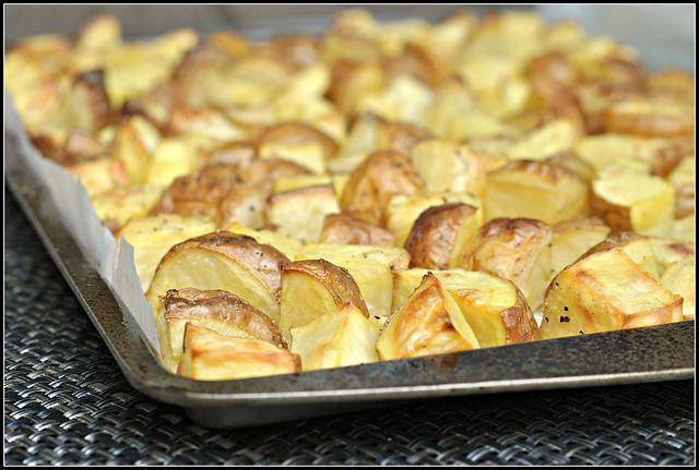 SALT AND VINEGAR ROASTED POTATOES Prep time: 1 hour 10 mins Cook time ...