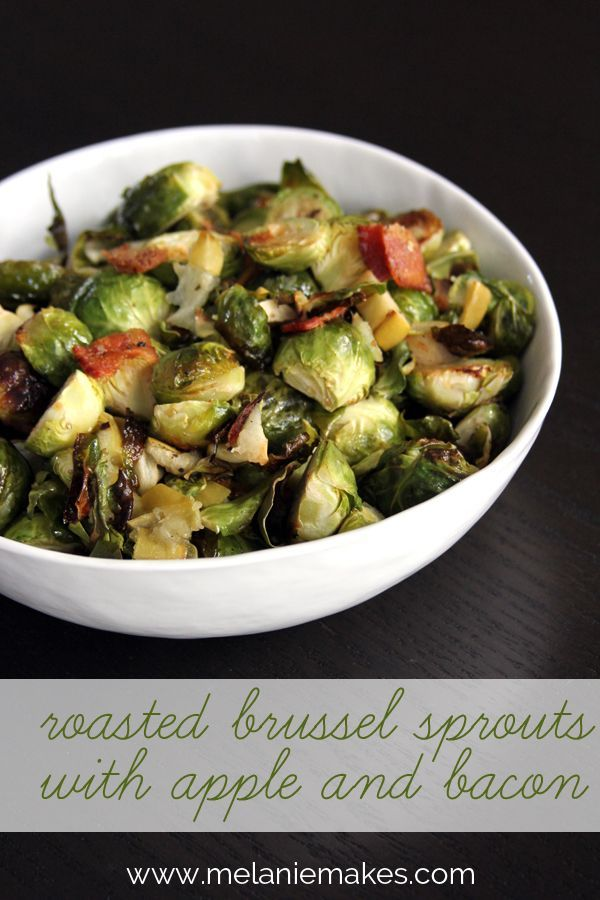 Roasted Brussels Sprouts with Apple and Bacon | Recipe
