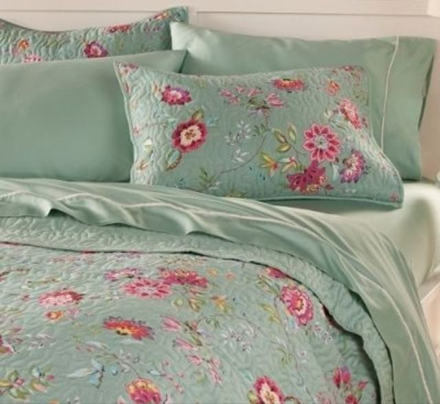Bedding blue pink floral beautiful bedding pinterest - Blue and pink floral bedding ...