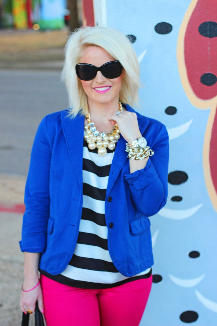 striped - statement necklace - colors