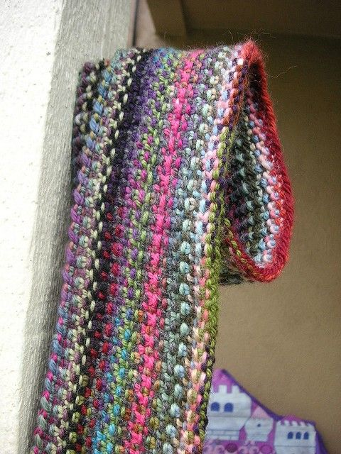 Scrappy Lengthwise Scarf KNIT PATTERN