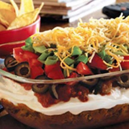 Layer Taco Dip Recipe | TACO PARTY RECIPES | Pinterest