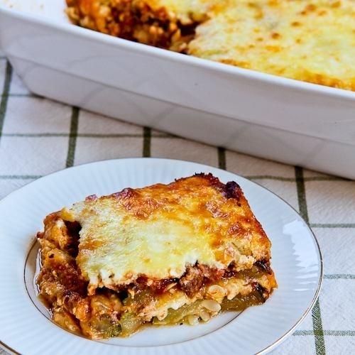 "... ""Lasagna"" Recipe with Italian Sausage, Tomato, and Basil Sauce"