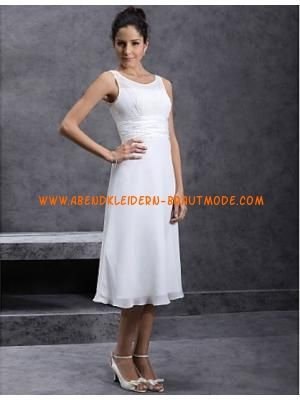 Schlichte Kurze Brautkleider aus Chiffon  Brautkleider  Pinterest