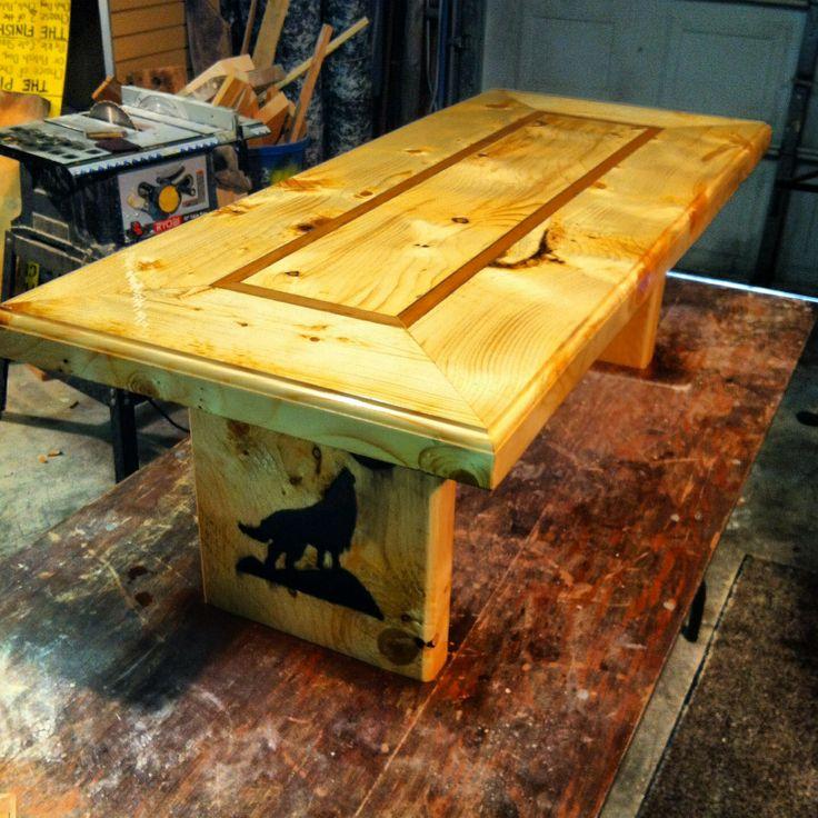 Rough Cut Pine Rustic Coffee Table Yooper Wood Works Pinterest