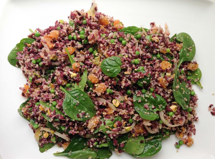 Black Rice and Quinoa with Spinach, Apricots and Pistachios @Cara K K ...