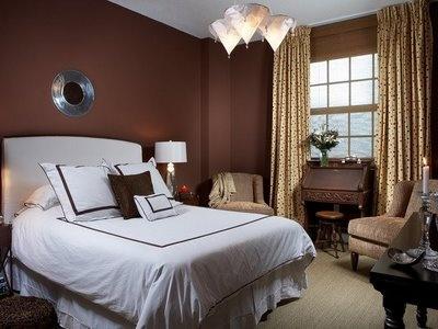 brown and blue bedroom | Bedroom Design ~ Master | Pinterest