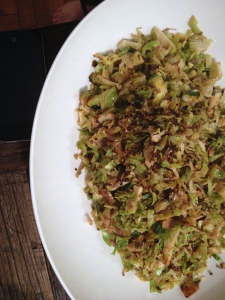 Shredded Sauteed Brussels Sprouts. Quickly sauteed, light and easy to ...