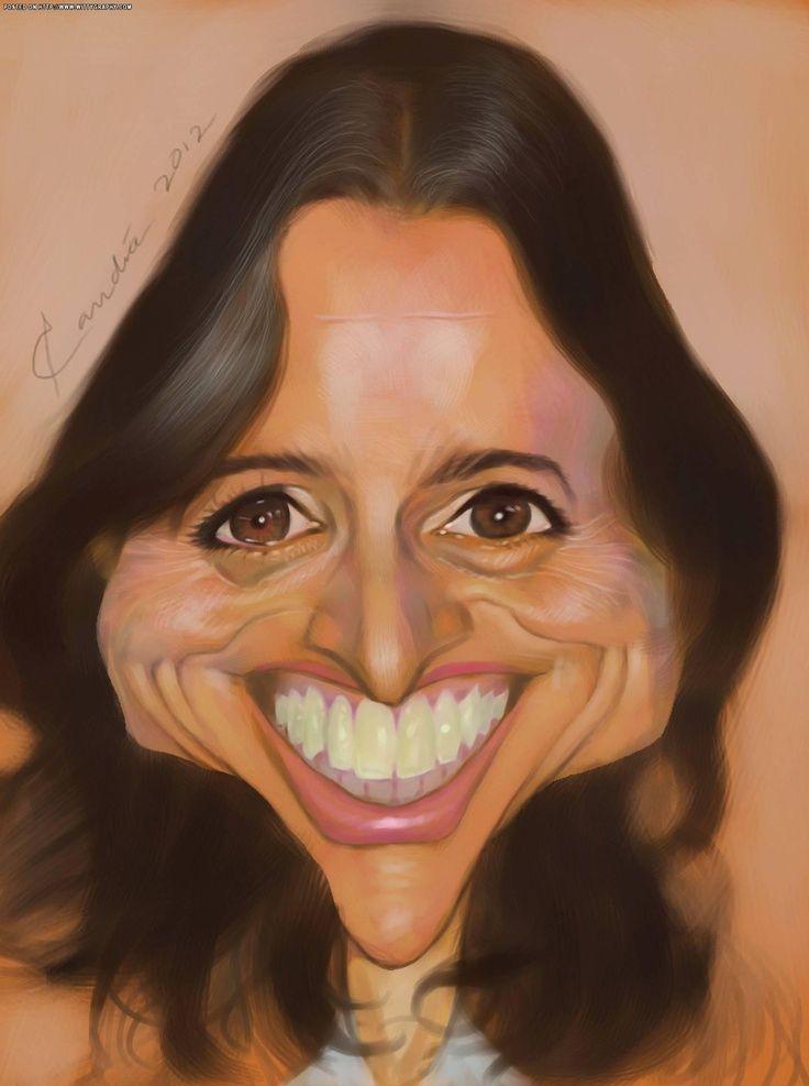 Julia Louis Dreyfus | celebrity caricatures | Pinterest