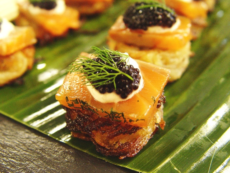 deWintons - Salmon gravadlax rosti | Cocktails and Canapes | Pinterest