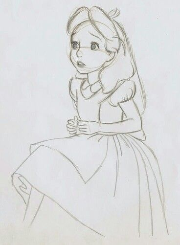 Line Drawing No Shading : Alice in wonderland animation sketches pictures to pin on