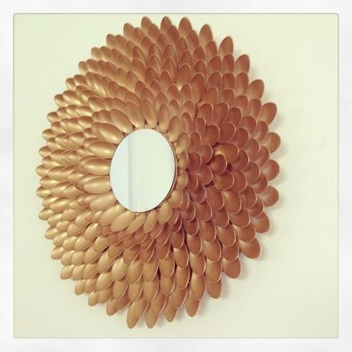 Pin by lilahv on craft pinterest for Plastic spoon flower mirror