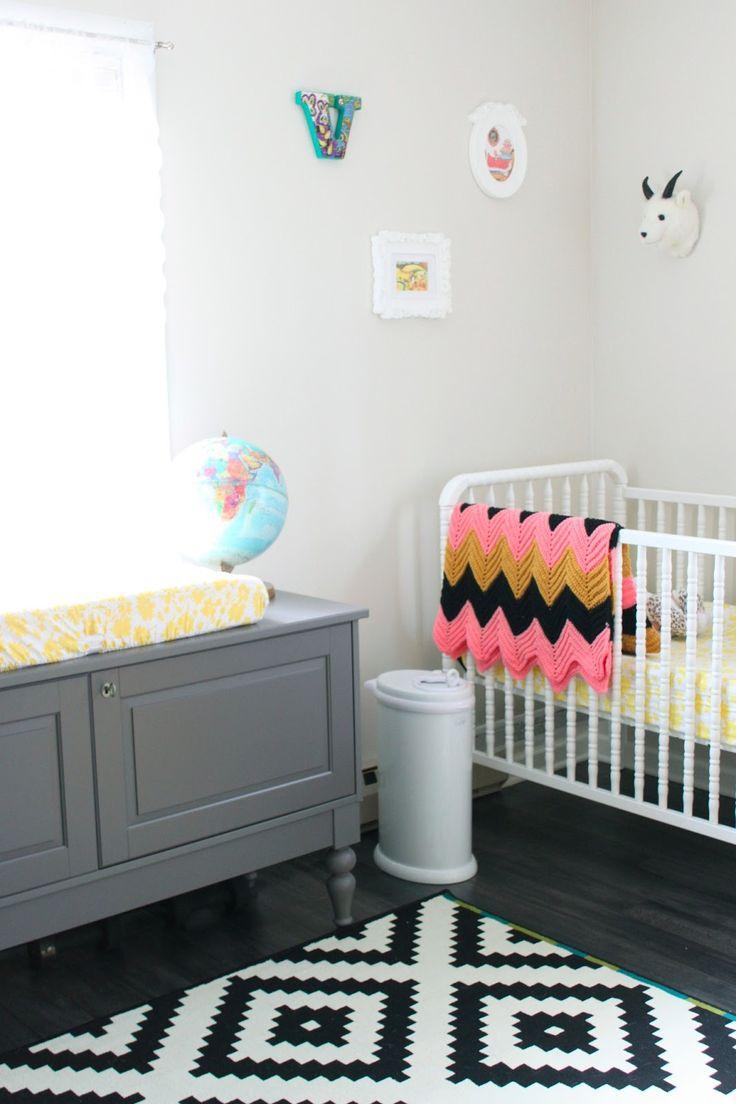 geometric nursery rug