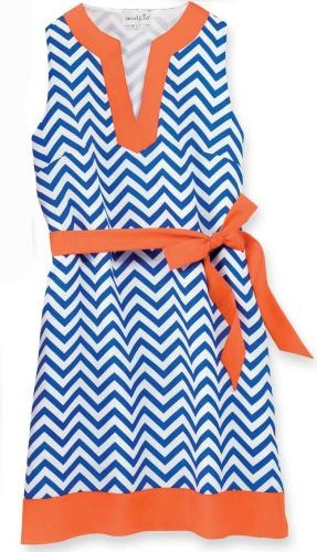 Chevron Game Day Dress Support your favorite team in this absolutely