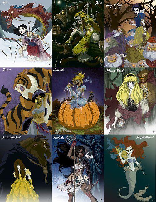 Disney princess zombiessss