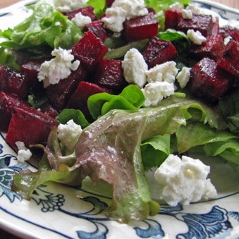 Beet and Feta Salad - this was OK, but I prefer beets with goat cheese ...