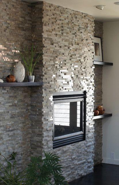 Modern fireplaces stone fireplace fireplaces pinterest for Modern stone fireplace