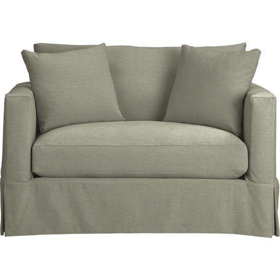 willow twin sleeper sofa in sleeper sofas artichoke color crate