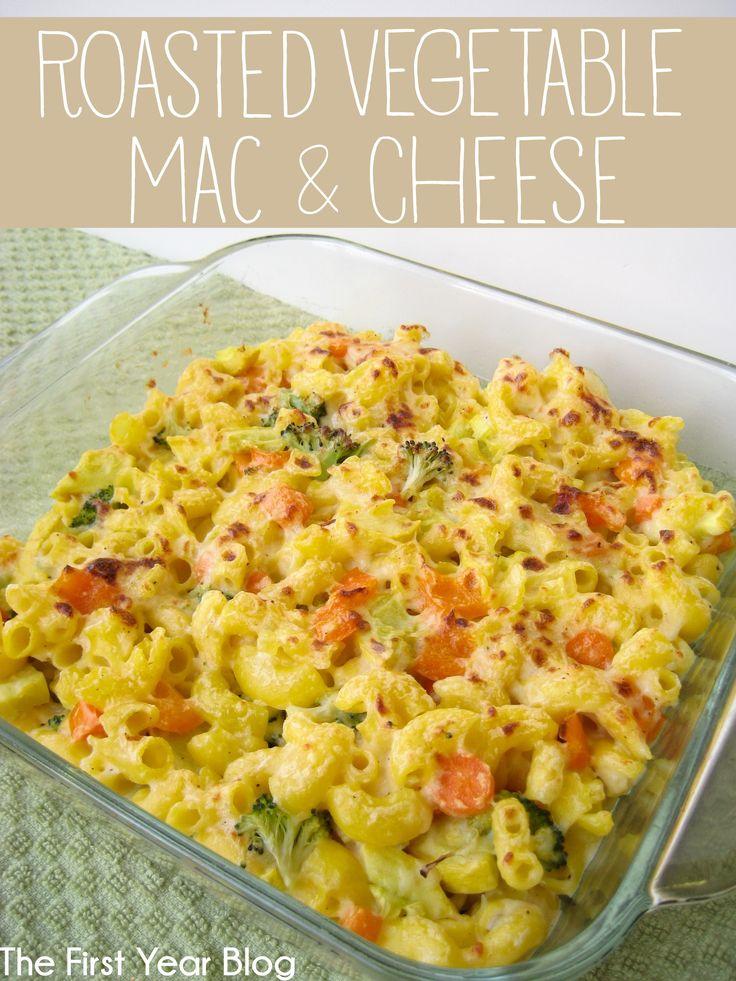 Roasted Vegetable Mac & Cheese #macaroni #pasta