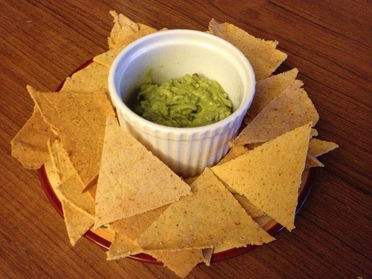 "Paleo ""tortilla"" chips, salsa, and guacamole (gluten free)"