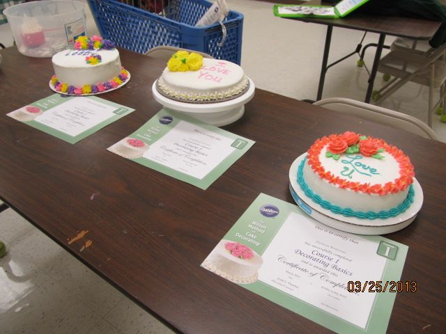 Wilton Cake Classes Hobby Lobby : Class I Final Cakes Wilton Cake Decorating Classes at ...