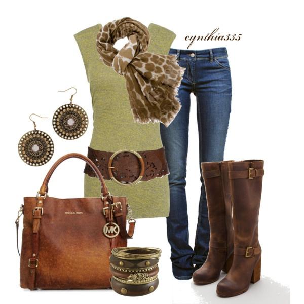 belt, scarf, bag <3