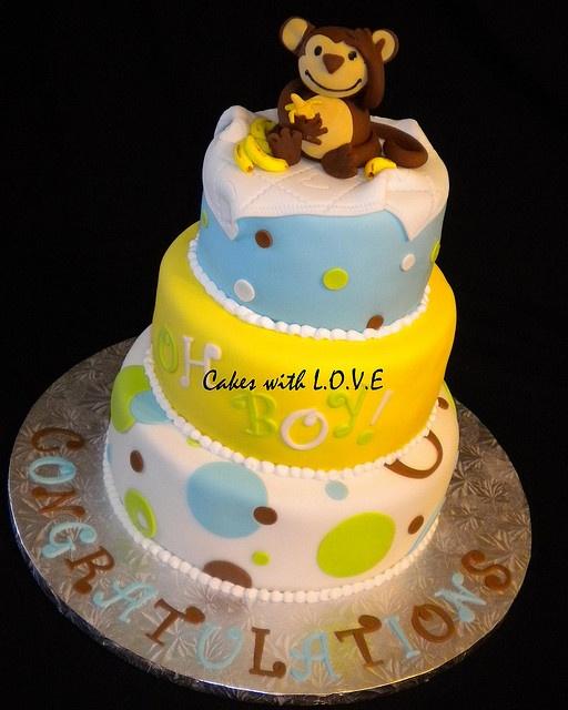 monkey baby shower cake monkey boy baby shower birthday party ide