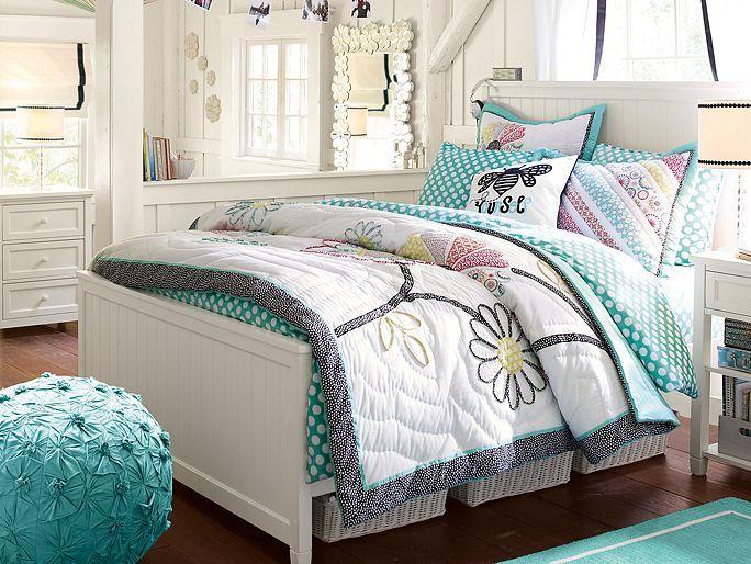 pbteen chamois beadboard bedroom on rachel likes color