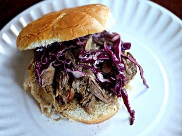 Slow Cooker Kalua Pork Sandwiches With Crispy Asian Slaw | Recipe