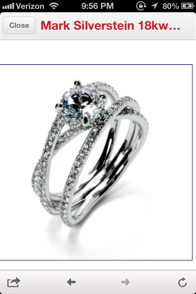 Pin by monica moran on for that one day pinterest for Three strand wedding ring