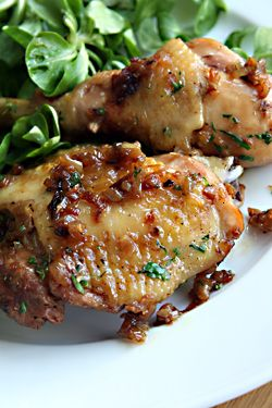 Roasted Chicken with Caramelized Shallots - super easy and you prolly ...