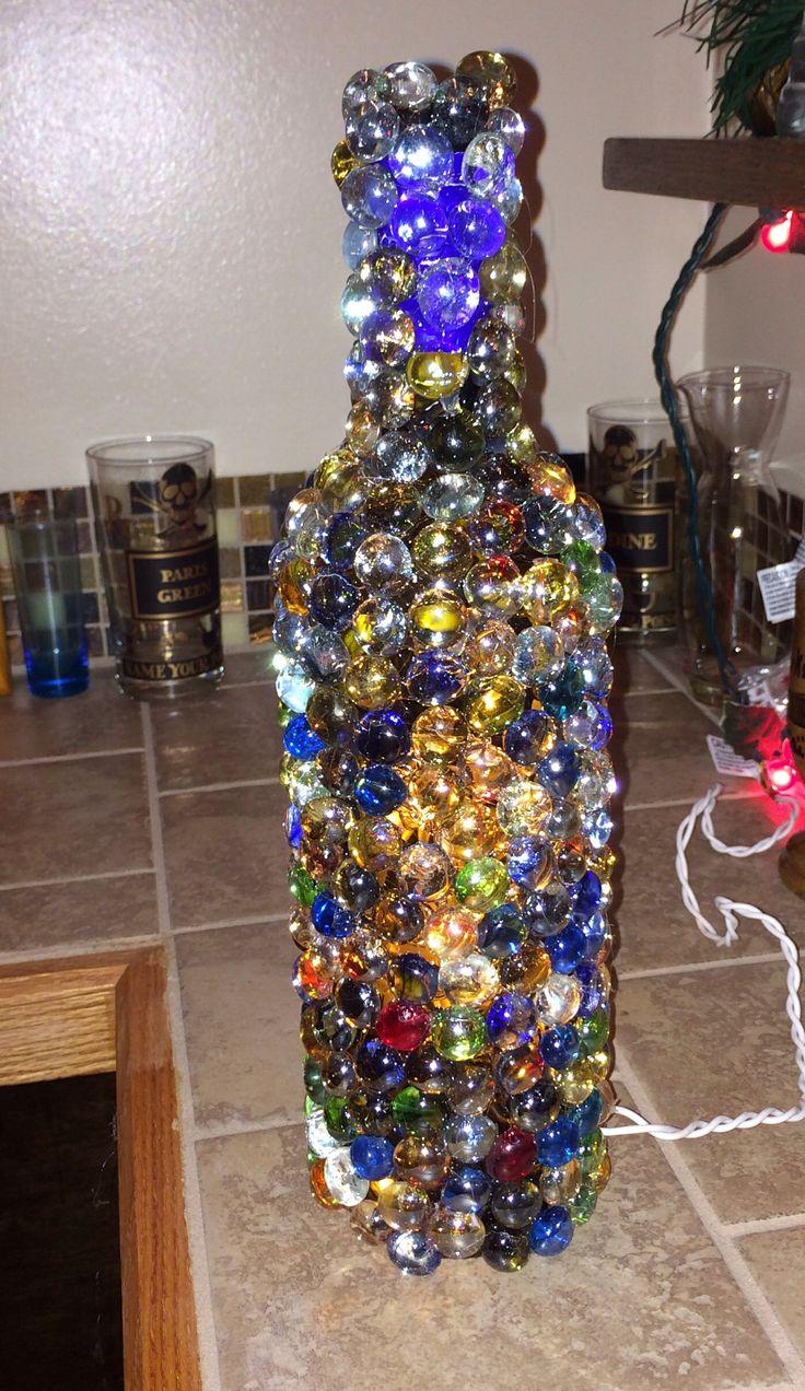 Diy wine bottle light wine bottles pinterest