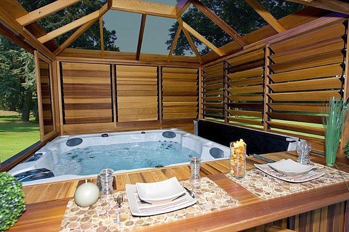 Hot Tub Enclosure Hot Tub Heaven Pinterest