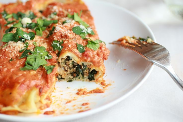 Italian Spinach and Crepe Manicotti - Half Baked Harvest Use the low ...