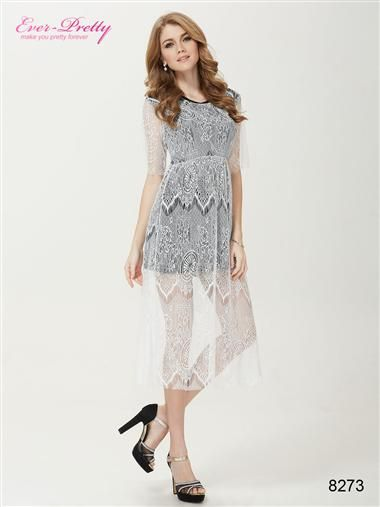 pretty secrets black lace casual dress women