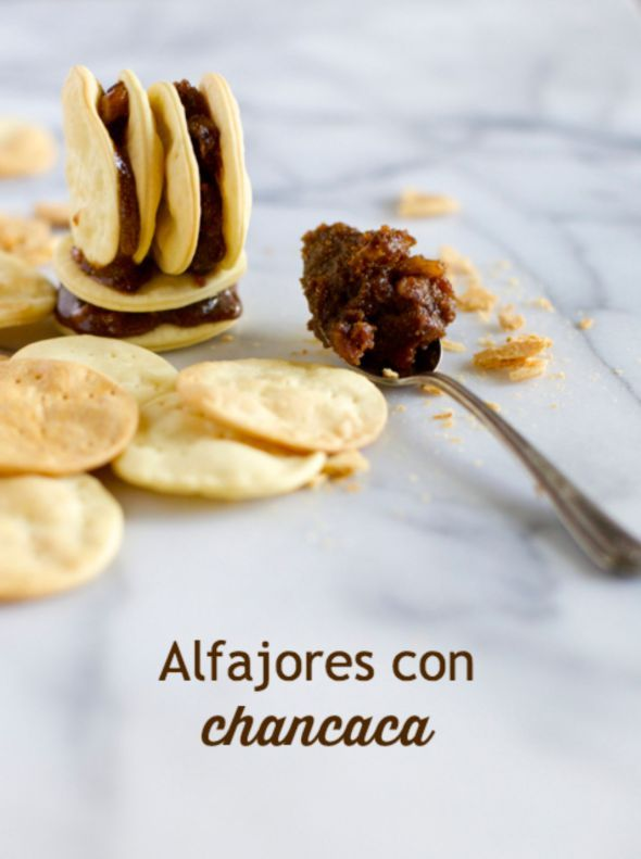 ... chancaca atoradores, receta chilena Molasses Alfajores, Chilean recipe