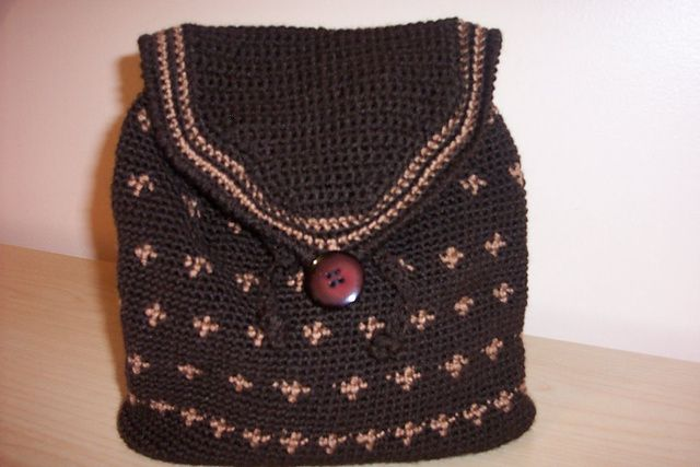 Crochet backpack bag Not your mamas crocheting Pinterest