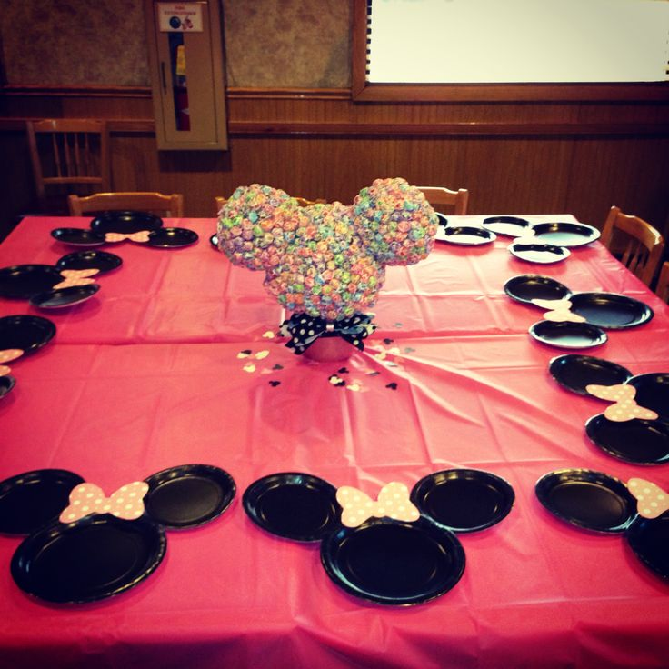 minnie mouse party table decoration photograph minnie mous. Black Bedroom Furniture Sets. Home Design Ideas