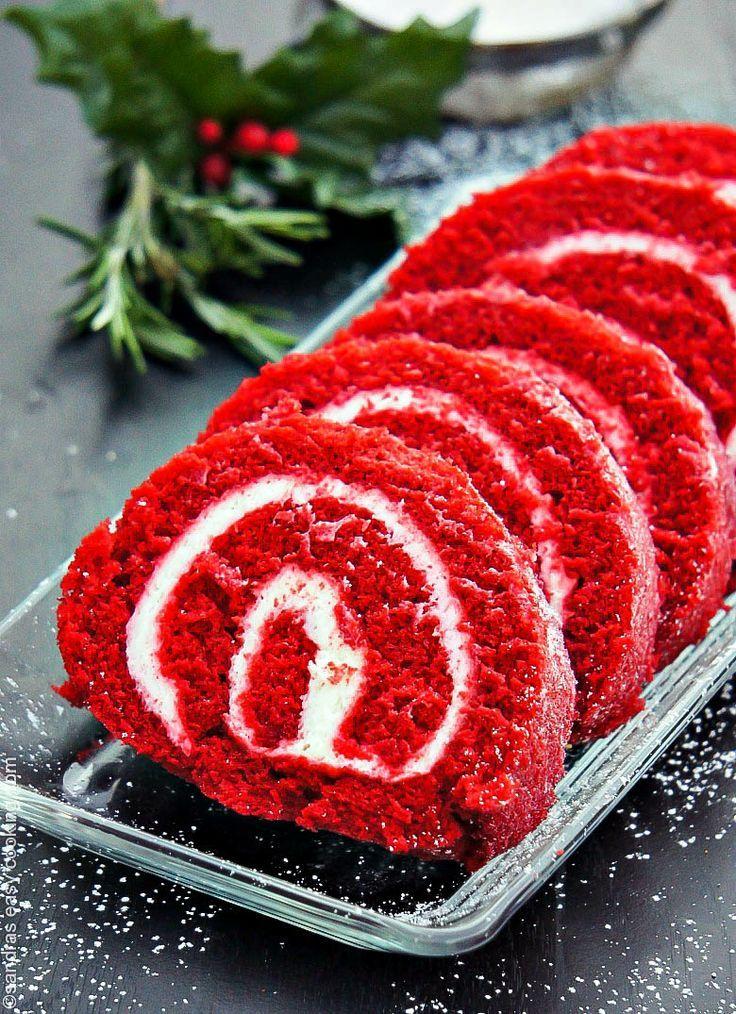 Recipe for Red Velvet Cake Roll. | Food | Pinterest