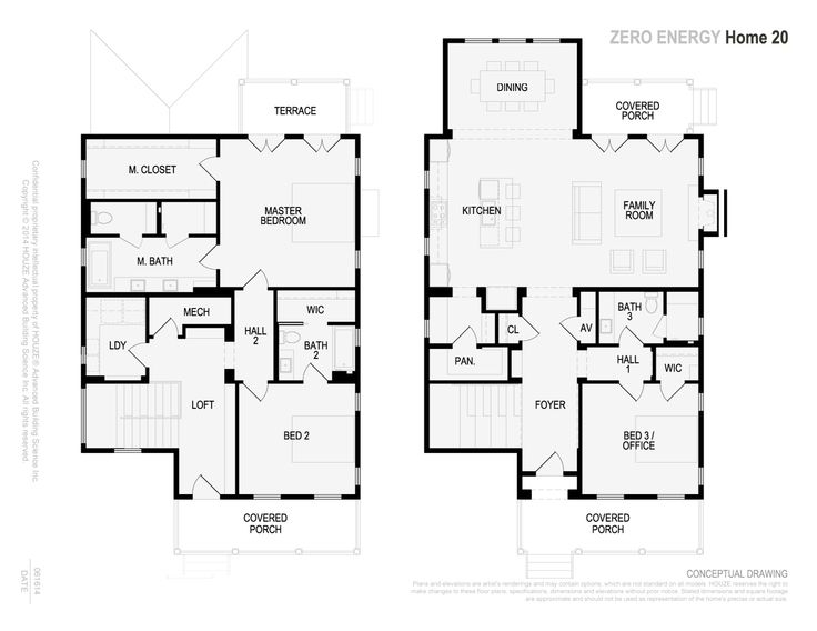Net zero home 2300 sf floor plans future home for Net zero home designs