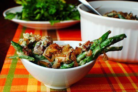 Green Bean Casserole with Crispy Shallots | http://iowagirleats.com ...