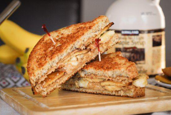 Fried Maple PB Banana Bacon Sandwichs   recipes   Pinterest