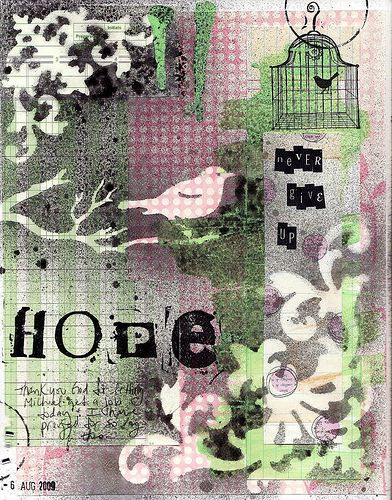 """never give up hope """"art journal"""""""