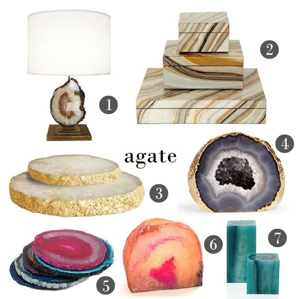 Agate Decor Agate And Stone Pinterest