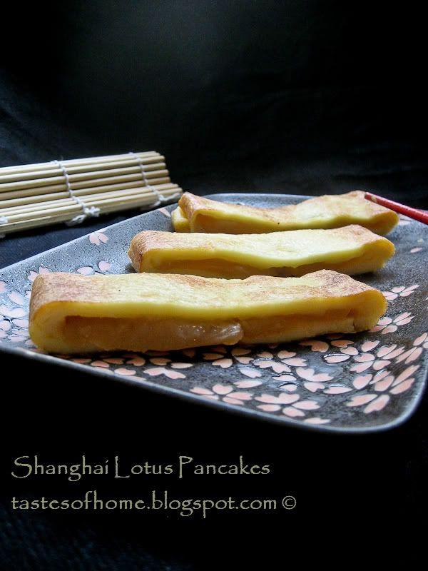 Lotus or red bean paste pancakes | Sweet Recipes | Pinterest