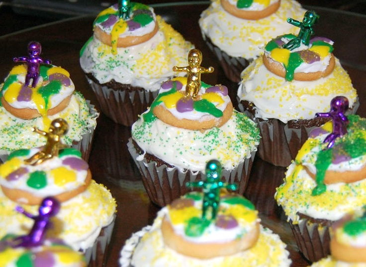 Mardi Gras King Cake Cupcakes | mardi gras baby shower | Pinterest